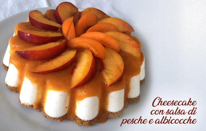 Peach and apricot cheesecake